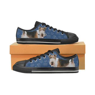 Wire Hair Fox Terrier Dog Black Men's Classic Canvas Shoes - TeeAmazing