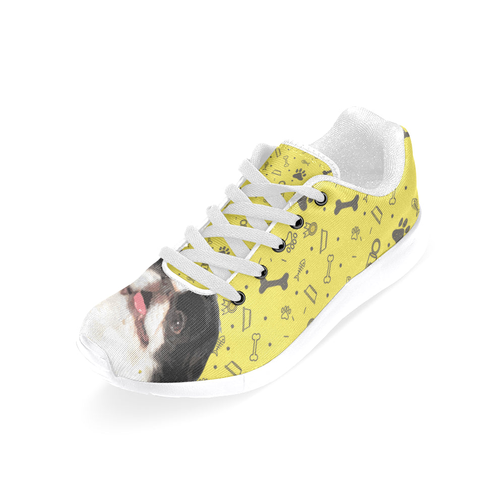 Japanese Chin Dog White Sneakers for Men - TeeAmazing