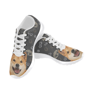Shiba Inu Dog White Sneakers Size 13-15 for Men - TeeAmazing