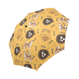 Akita Pattern Auto-Foldable Umbrella - TeeAmazing