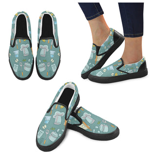 Cooking Black Women's Slip-on Canvas Shoes - TeeAmazing