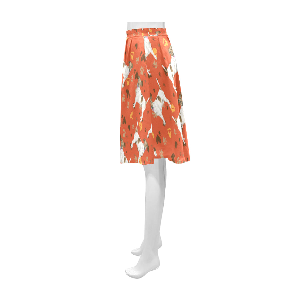 Jack Russell Terrier Water Colour Pattern No.1 Athena Women's Short Skirt - TeeAmazing