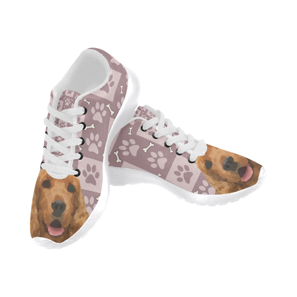 American Cocker Spaniel White Sneakers Size 13-15 for Men - TeeAmazing