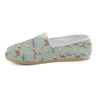 Greyhound Pattern Women's Casual Shoes - TeeAmazing