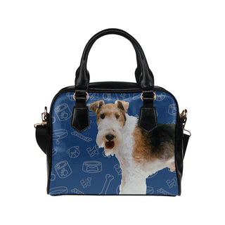 Wire Hair Fox Terrier Dog Shoulder Handbag - TeeAmazing