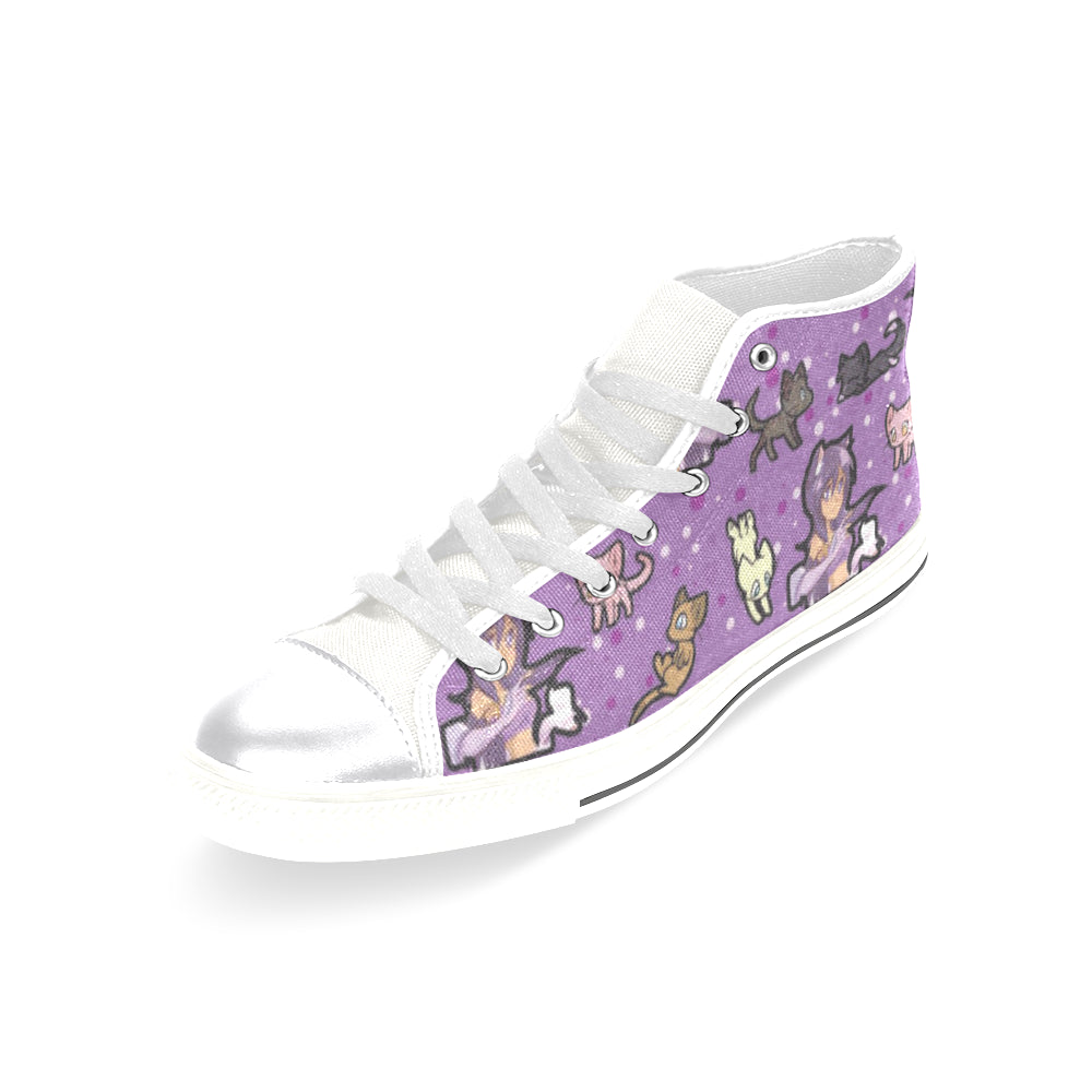 Aphmau White Women's Classic High Top Canvas Shoes - TeeAmazing