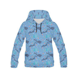 Scuba Diving Pattern All Over Print Hoodie for Women - TeeAmazing
