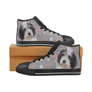 Petit Basset Griffon Vendéen Black Women's Classic High Top Canvas Shoes - TeeAmazing