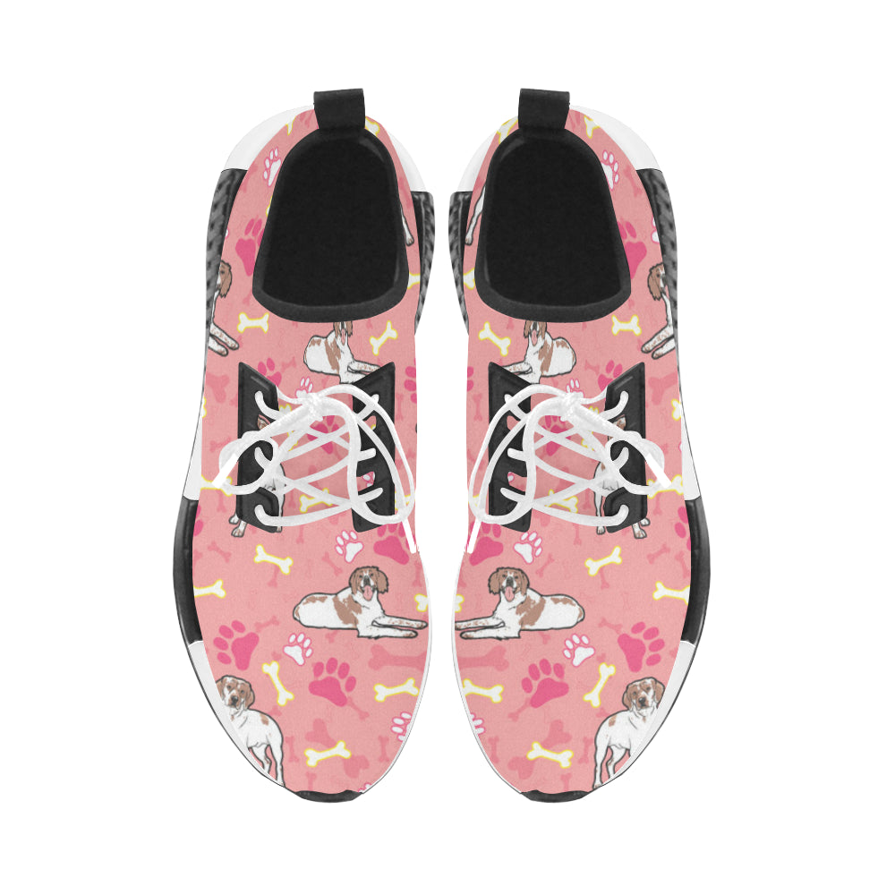 Brittany Spaniel Pattern Women's Draco Running Shoes - TeeAmazing