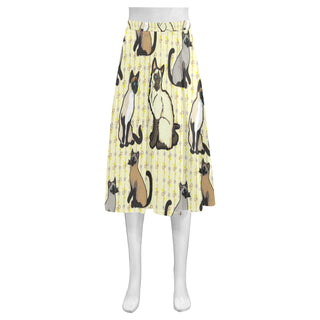 Siamese Mnemosyne Women's Crepe Skirt (Model D16) - TeeAmazing