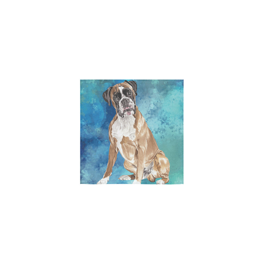 Boxer Water Colour Square Towel 13x13 - TeeAmazing