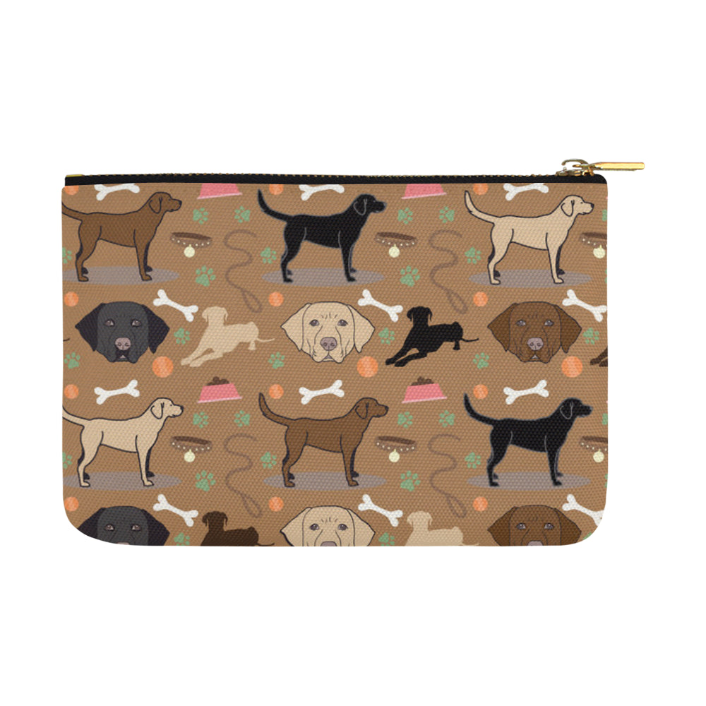 Labrador 3 Colors Carry-All Pouch 12.5x8.5 - TeeAmazing