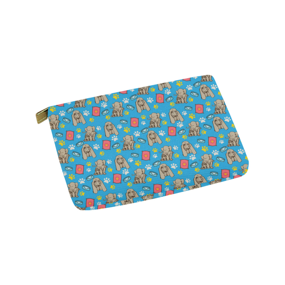 Bloodhound Pattern Carry-All Pouch 9.5x6 - TeeAmazing