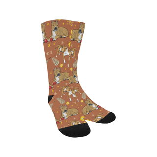 American Staffordshire Terrier Flower Trouser Socks - TeeAmazing