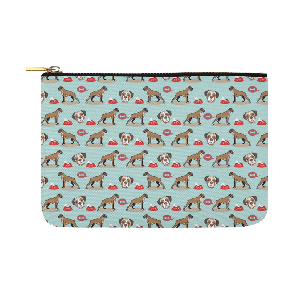 Boxer Pattern Carry-All Pouch 12.5x8.5 - TeeAmazing