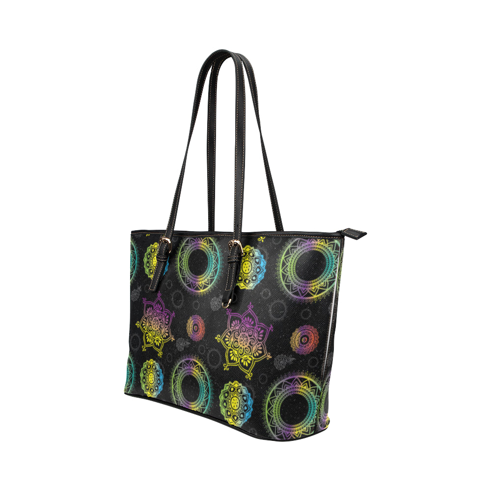 Chakra Leather Tote Bag/Small - TeeAmazing