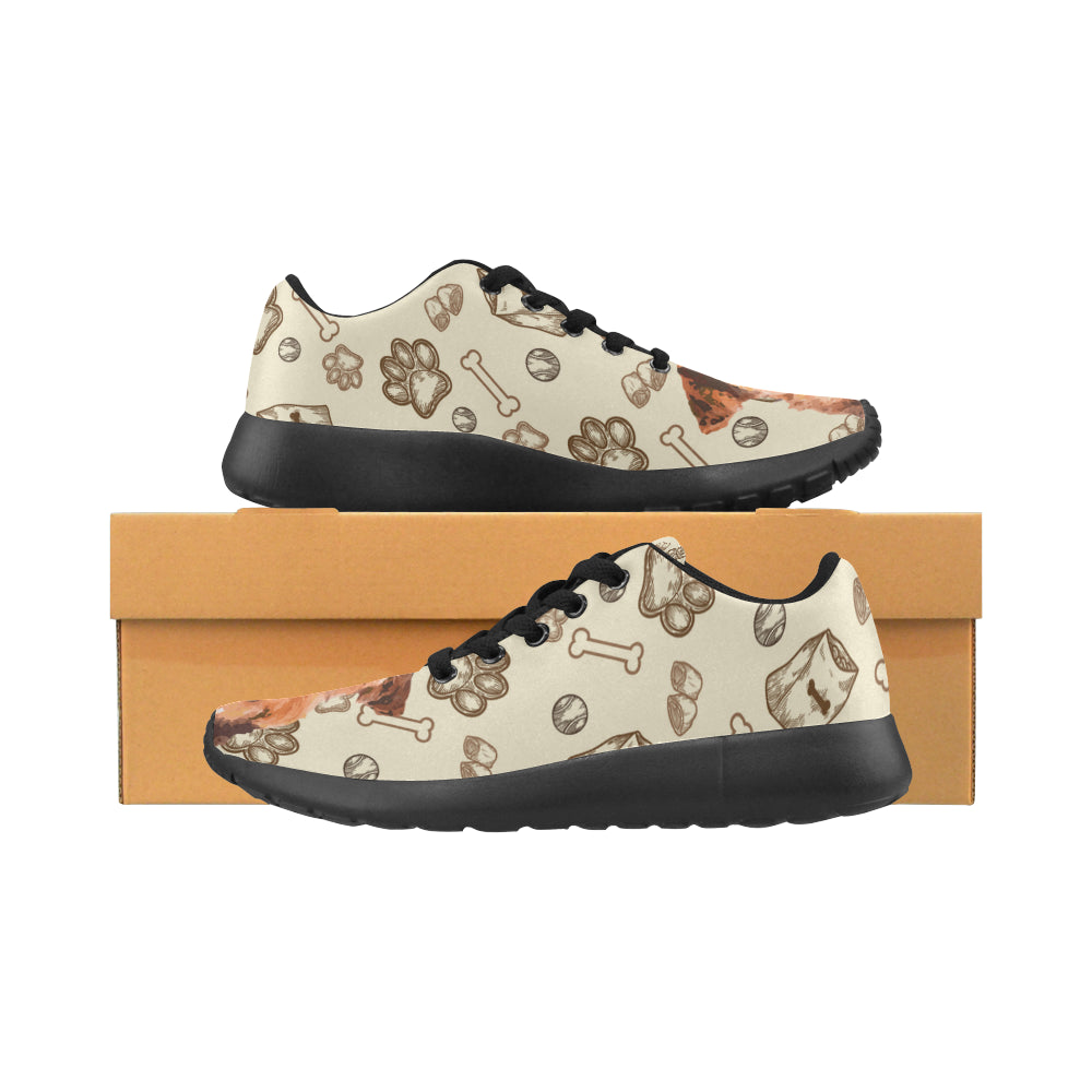 Airedale Terrier Black Sneakers for Women - TeeAmazing