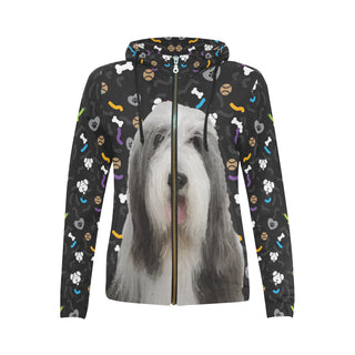 Bearded Collie Dog All Over Print Full Zip Hoodie for Women - TeeAmazing