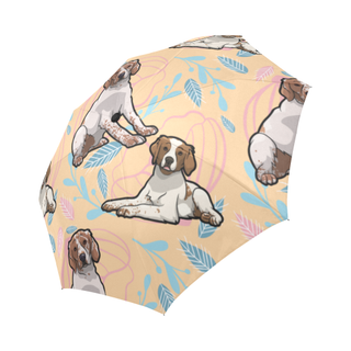 Brittany Spaniel Flower Auto-Foldable Umbrella - TeeAmazing