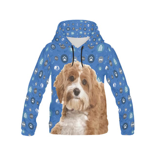 Cavapoo Dog All Over Print Hoodie for Women (USA Size) (Model H13) - TeeAmazing