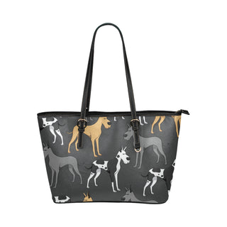 Great Dane Leather Tote Bags - Great Dane Bags - TeeAmazing