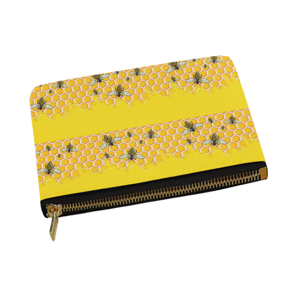 Bee Pattern Carry-All Pouch 12.5x8.5 - TeeAmazing