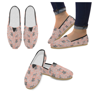 Italian Greyhound Flower Women's Casual Shoes (Model 004) - TeeAmazing