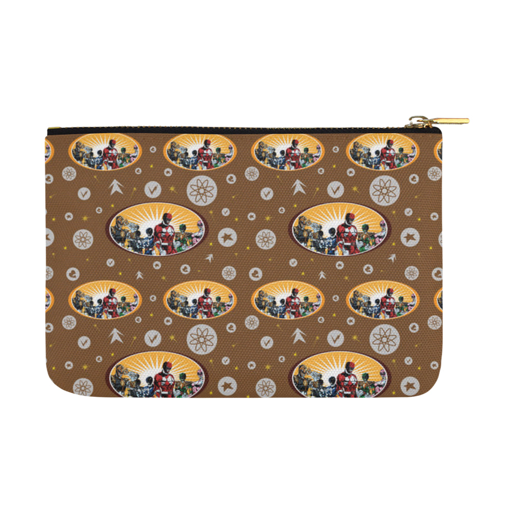 Power Ranger Pattern Carry-All Pouch 12.5x8.5 - TeeAmazing