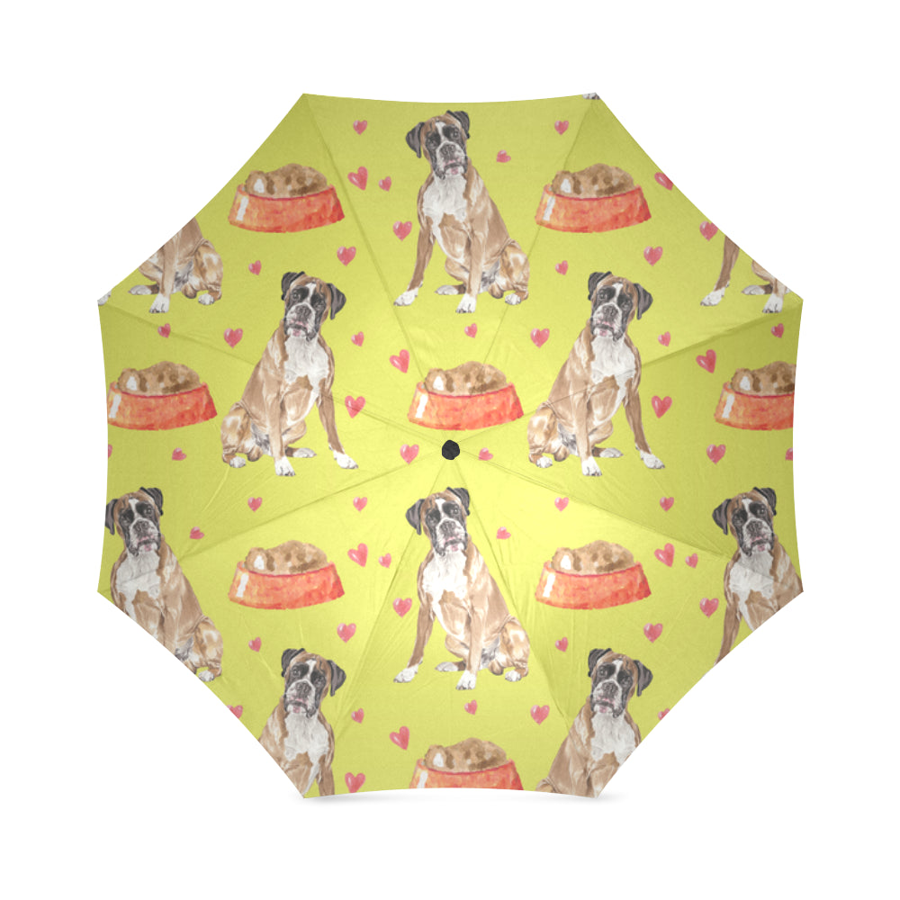Boxer Water Colour Pattern No.2 Foldable Umbrella - TeeAmazing