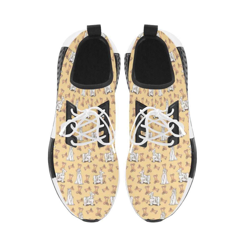Afghan Hound Pattern Women's Draco Running Shoes (Model 025) - TeeAmazing