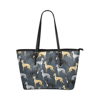Greyhound Leather Tote Bags - Greyhound Bags - TeeAmazing