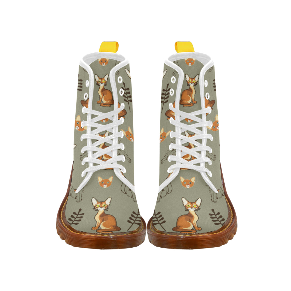 Abyssinian White Boots For Men - TeeAmazing