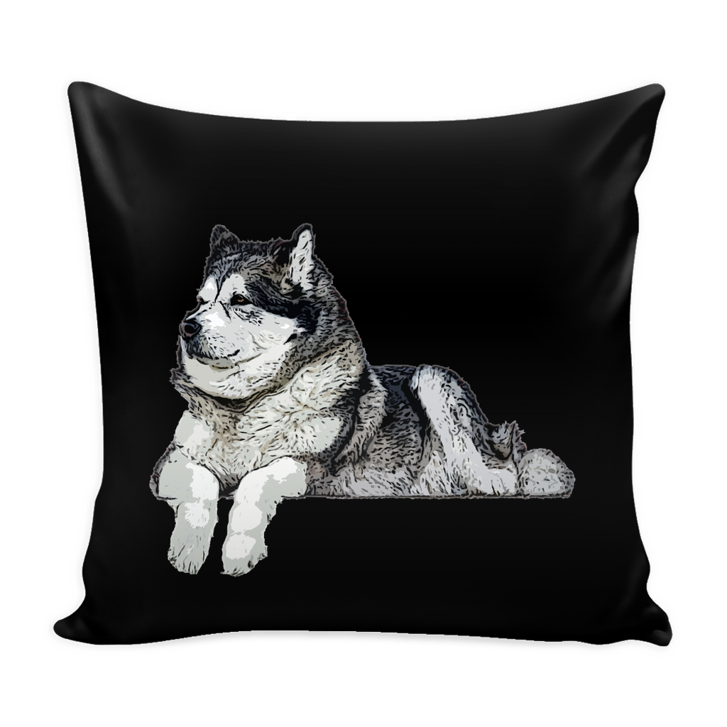 Alaskan Malamute Dog Pillow Cover - Alaskan Malamute Accessories - TeeAmazing