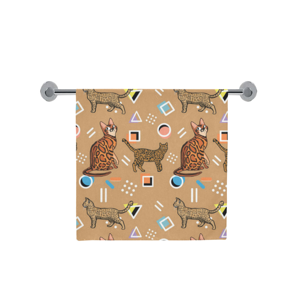 "Bengal Cat Bath Towel 30""x56"" - TeeAmazing"