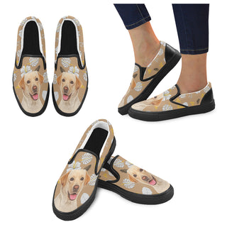 Labrador Retriever Lover Black Women's Slip-on Canvas Shoes
