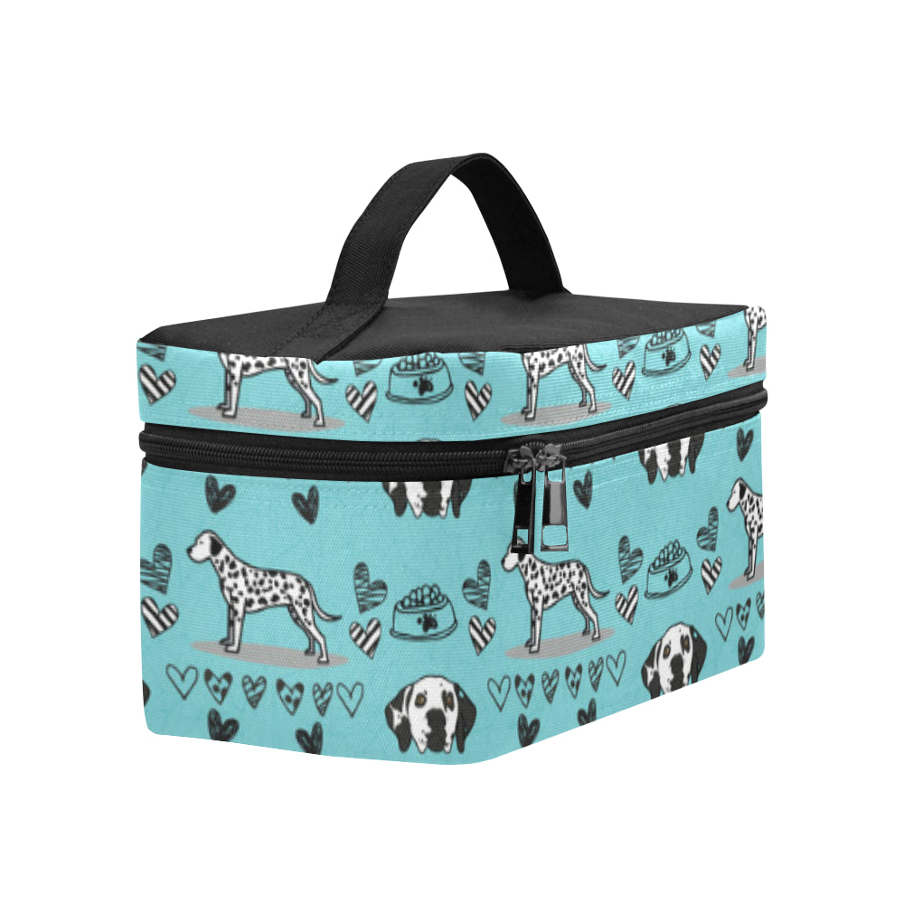 Dalmatian Pattern Cosmetic Bag/Large - TeeAmazing