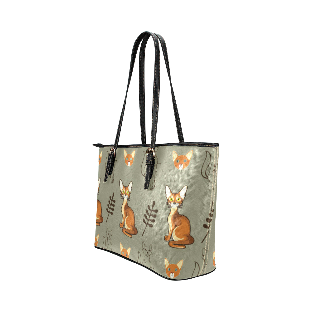 Abyssinian Leather Tote Bag/Small - TeeAmazing