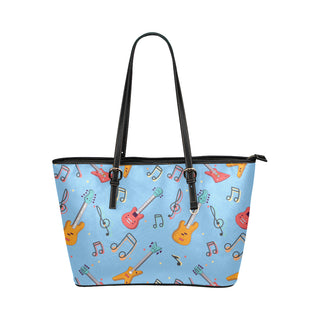 Bass Pattern Leather Tote Bag/Small - TeeAmazing