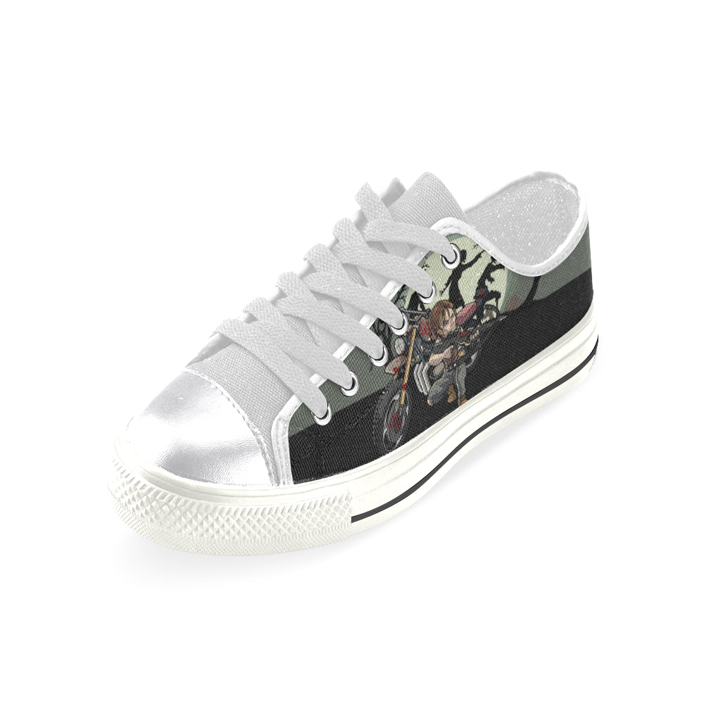 Daryl Dixon White Women's Classic Canvas Shoes - TeeAmazing