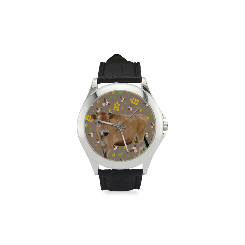 Cow Women's Classic Leather Strap Watch - TeeAmazing