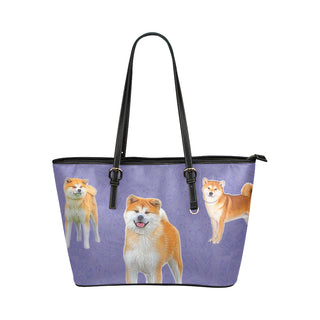 Akita Lover Leather Tote Bag/Small - TeeAmazing