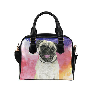 Pug Water Colour No.1 Shoulder Handbag - TeeAmazing
