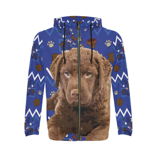 Chesapeake Bay Retriever Dog All Over Print Full Zip Hoodie for Men - TeeAmazing