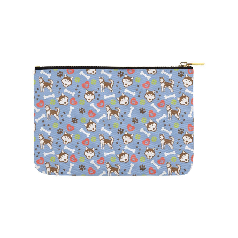 Alaskan Malamute Pattern Carry-All Pouch 9.5x6 - TeeAmazing