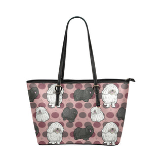 Puli Dog Leather Tote Bag/Small - TeeAmazing
