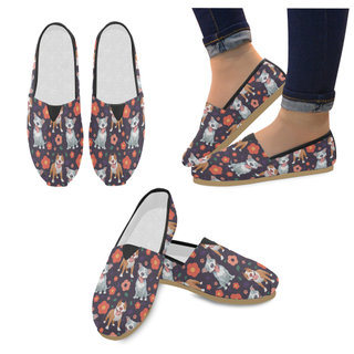 Pit bull Flower Women's Casual Shoes (Model 004) - TeeAmazing