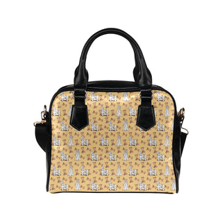 Afghan Hound Pattern Shoulder Handbag - TeeAmazing
