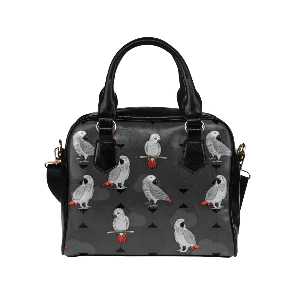 African Greys Shoulder Handbag - TeeAmazing