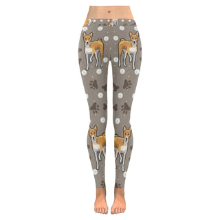 Basenji Low Rise Leggings (Model L05) - TeeAmazing