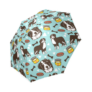 Bernese Mountain Pattern Foldable Umbrella - TeeAmazing